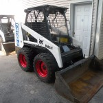 two bobcat skid steer loaders 743B