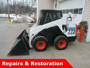 bobcat 773 excavator in driveway