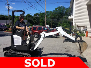 sold mini bobcat excavator