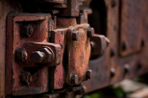 piece of rusted metal